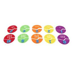 colorful egg shape number matching blocks toy