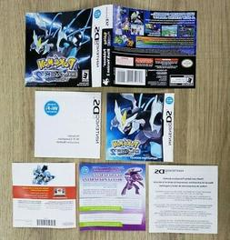 COVER, MANUAL AND INSERTS ONLY - NO GAME - POKEMON BLACK 2 -