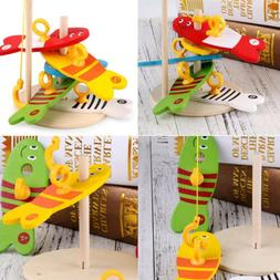 Creative Fishing Game Toys Digital Wooden Gifts Colorful Bab
