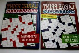 Crossword Puzzles for Seniors Adults Large Print 2 Kappa Vol