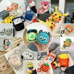 Cute 3D Cartoon Silicone Case cover For AirPod 1 & 2 Chargin