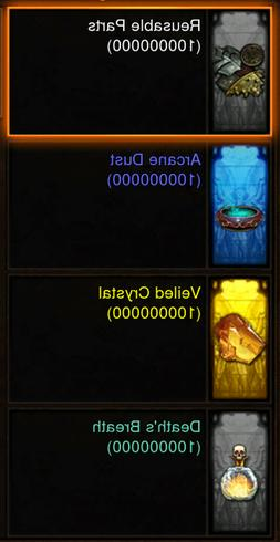 Diablo 3 ROS XBOX ONE All Cube Crafting Materials 10 Million