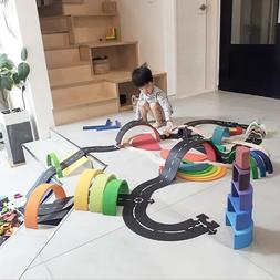DIY PVC Puzzles Track Play Set city Road toy Car Track patte