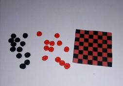 Dollhouse Miniature Checker Board Set Games Dolls Hobby Doll