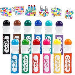 Dot Markers 12 Colors Bingo Daubers Dabbers Dauber Dawgs for