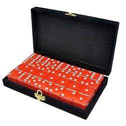 Marion Double 6 Dominoes in Velvet Case
