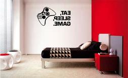 EAT SLEEP GAME VINYL WALL DECAL LETTERING DECOR STICKER GAME
