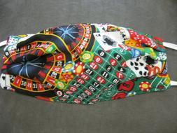 Face Mask Handmade Cotton Reversible ADULT SIZE - Casino Gam