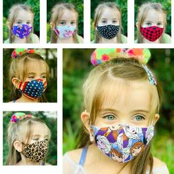 Face Mask Kids / Adult Cotton Fabric, MADE IN USA, Washable