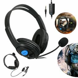 For PC Laptop PS4 Mac Phone Adjustable Gaming Headset With M