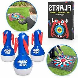 Flarts- Floor Dart Game Indoor or Outdoor Family Games for K