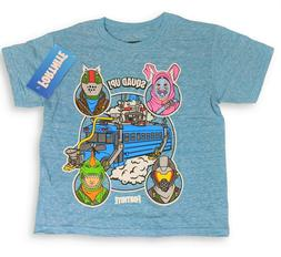 Fortnite Shirt For Boys Squad Up Battle Bus Gaming Tee SIZE