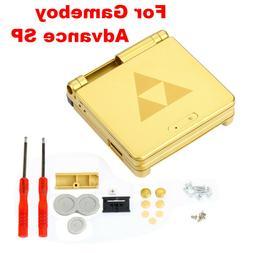 Game Boy Advance SP Replacement Housing Shell Gold Zelda Tri