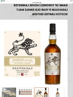GAME OF THRONES House Lannister Lagavulin 9 year Old Single