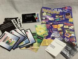 Nintendo Gameboy Loose Inserts Game Manuals Warranty Card Lo