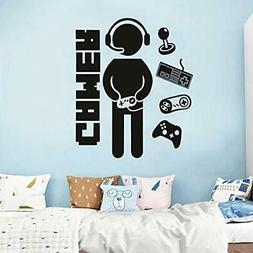 Gamer Decals for Boys Room, Creative Game Wall Sticker for K