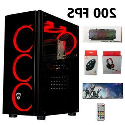 Gaming Pc Desktop Computer  RX 570, SSD+HDD, 24GB RAM, Strea