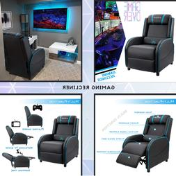Gaming Recliner Chair for Game Room with PU Leather, Gaming,