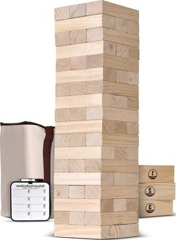Giant Yard Games For Adults And Family Toppling Tower Wood I