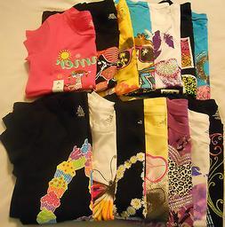Girls Tee Shirts Kids Size 4-5 6-6X 7-8 10-12 14-16 XS S M L