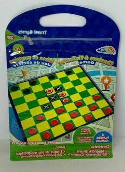 Grafix Travel Games Checkers & Tic Tac Toe Game For Kids 2 P