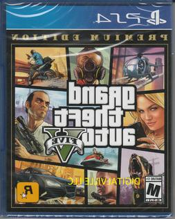 Grand Theft Auto V Premium Edition PS4 Brand New Factory Sea