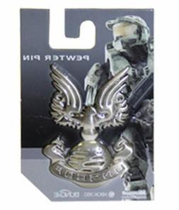 Halo 3 War Game Badge UNSCDF Logo Metal Pewter Pin NEW UNUSE