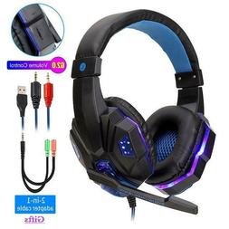 Headphones for PS4 Xbox Nintendo Switch PC 3.5mm STEREO Mic