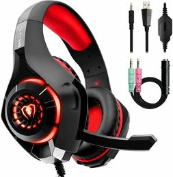 Headset Gaming for PC PS4 Mac Xbox One Controller Wired Head