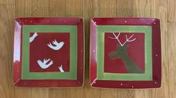 Holiday Reindeer Games Square Glass Platter