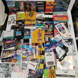 HUGE LOT video game manuals inserts box art nes/snes/n64/Gam