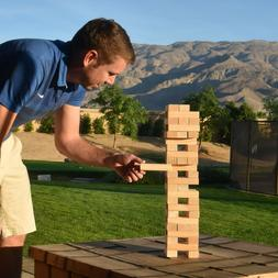 Jenga Game Giant Toppling Wooden Blocks Tower Portable Stack