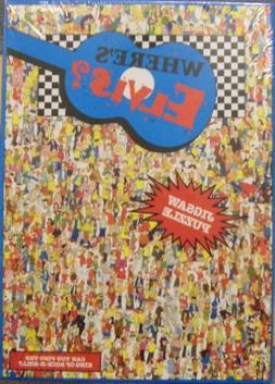 """513 pc. """"WHERE'S ELVIS"""" Jigsaw Puzzle Buffalo Games 1993 NEW"""