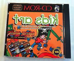 Kids Art ~ RARE Silver Coyote Software ~ IBM PC Game Draw Pa