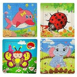 Kids Jigsaw Puzzles For Ages 4-8 Wooden Educational Games Fl