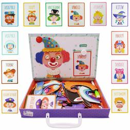 Kids Magnetic Puzzles Educational Human Dress Up Game Learni