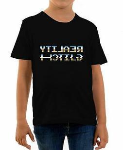 Kids Reality Glitch Retro Pixel T-Shirt Cool Old School Gami