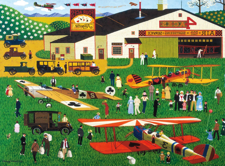 1000 Piece Jigsaw Puzzle Charles FLYING SCHOOL Buffalo Games