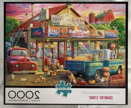2000 piece puzzle country store bonus poster