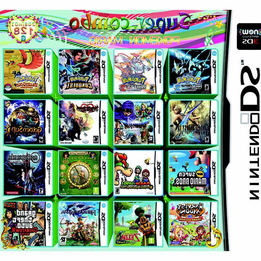 208 Games Multicart Nintendo DS NDSL NDSi 2DS
