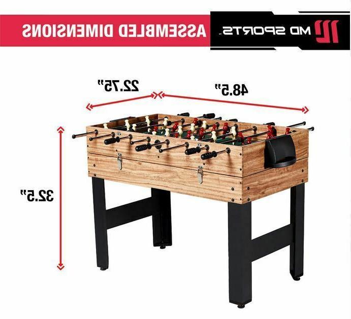 48 3 in 1 Foosball Game Table Multi Sports Combo