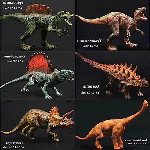 60pcs Kids Dinosaur Toys for 4 8 Year Old Boys