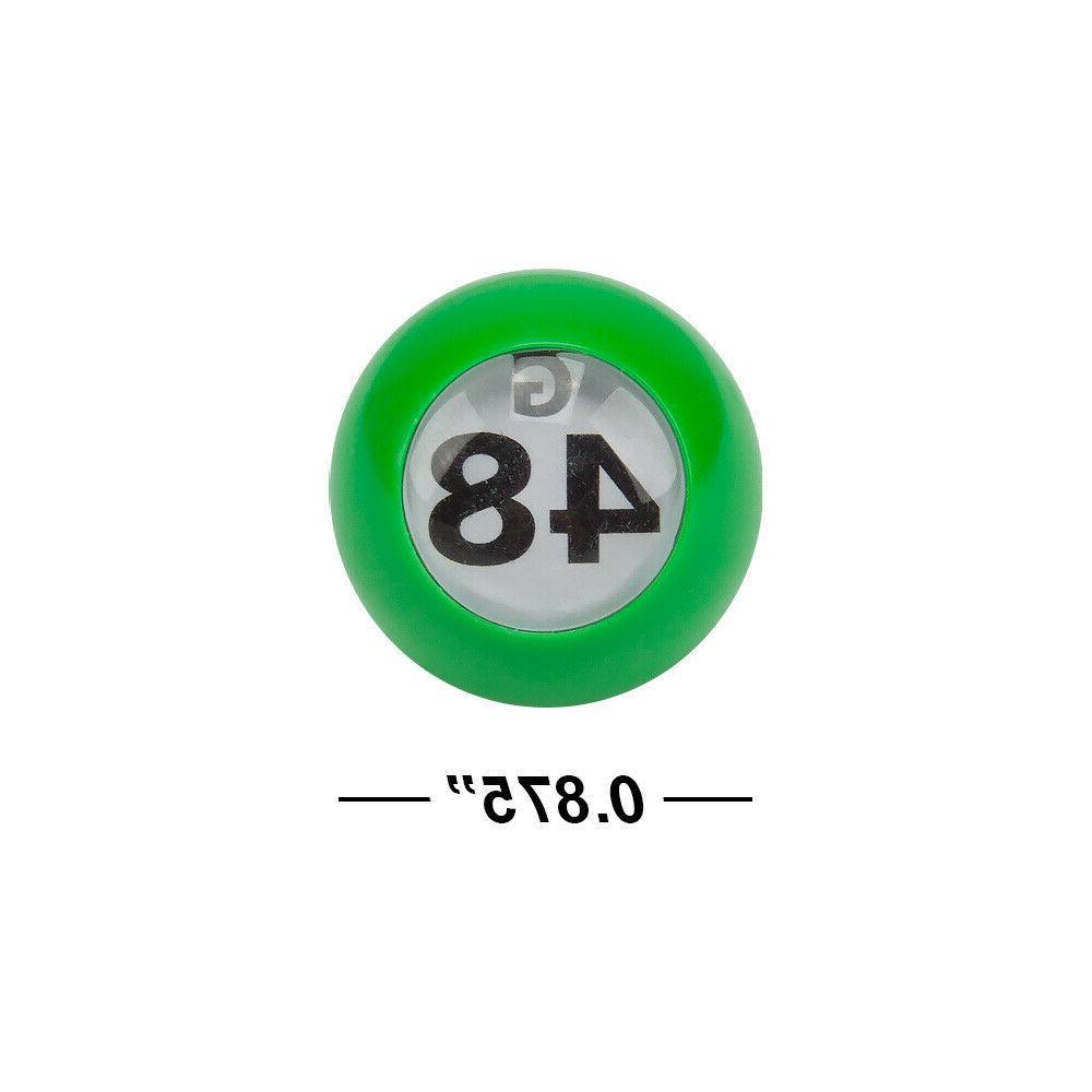 7/8-Inch Bingo Balls. Plastic Multi-Color Bingo Ball with Easy