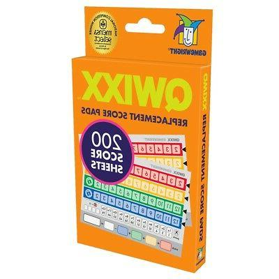 Qwixx, Replacement Score Cards Action Game