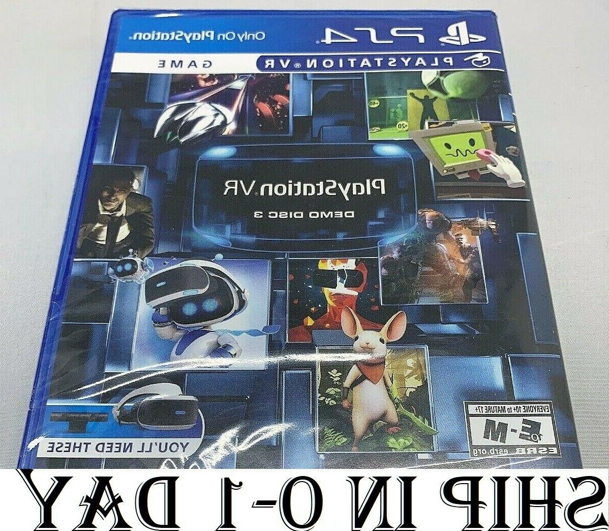 brand new playstation vr demo disc 3