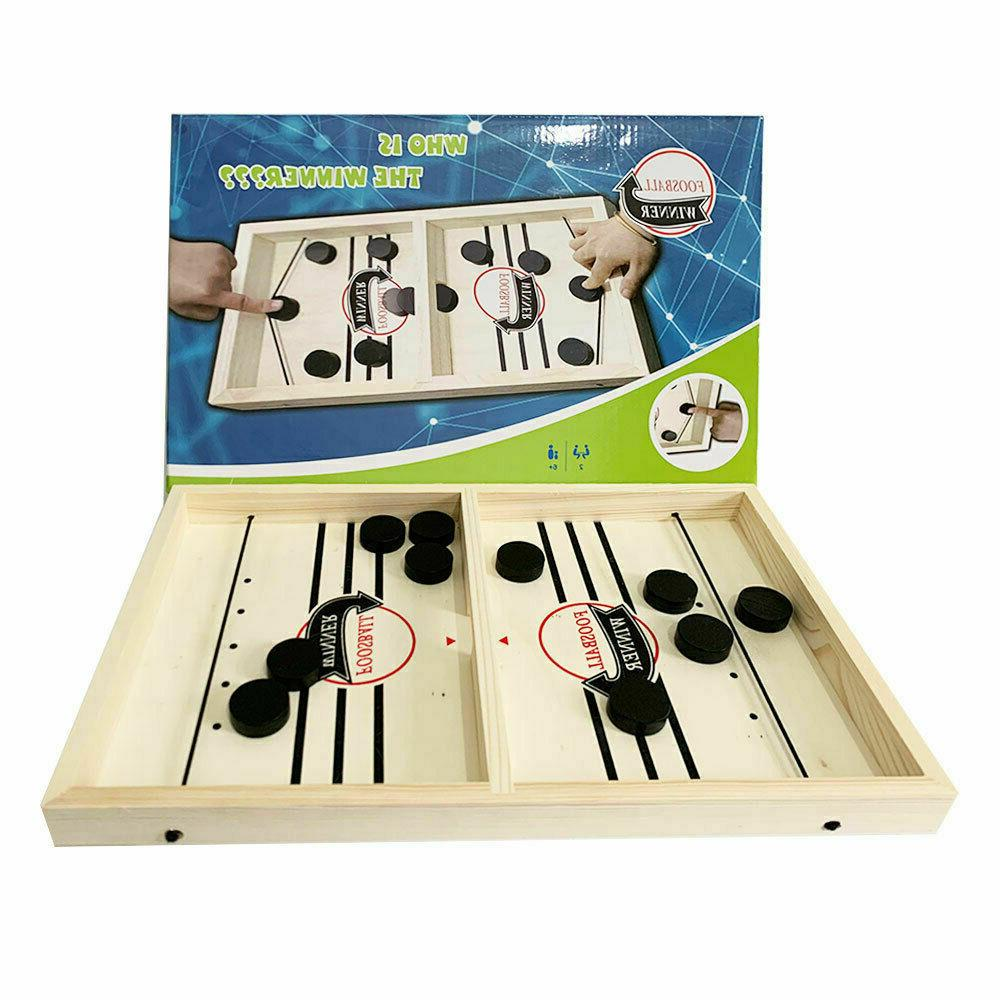 Fast Paced SlingPuck Board Family Games Home