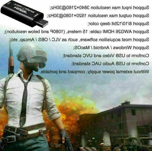 HDMI USB 2.0 HD Game/Video Streaming