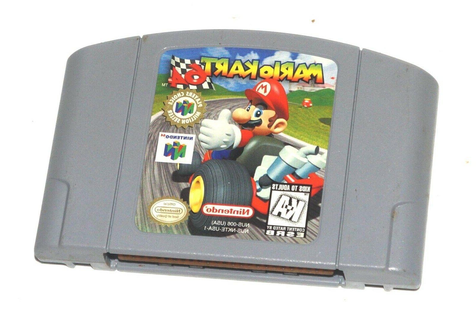 mario kart 64 video game cartridge console