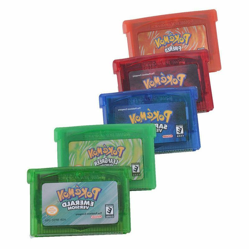 Pokemon Emerald Ruby Sapphire FireRed LeafGreen Cards