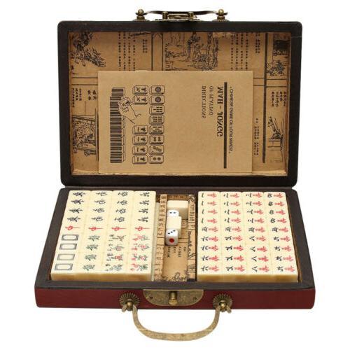 portable vintage mahjong rare chinese 144 tiles